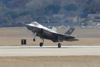 AA-1 @ NFW - Prototype F-35A landing at Carswell Field - Test Flight #25