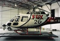 N126TV @ DWH - Helicopter Services Hangar, Hooks Airport - by Tom Norvelle
