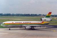 9G-ANA @ EDDL - Ghana Airways DC10-30