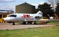 N813AA @ YIP - This Falcon 20 was already being used as a source of spares when photographed at Detroit Willow Run in 1997