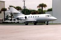 N137TA @ HOU - Falcon 20 at Houston Hobby in 1992 - by Terry Fletcher
