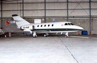 XA-HHF @ HOU - Mexican Falcon 20 at Houston Hobby in 1992