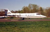 N855DB @ TEB - Learjet 55 lines up for departure from TEB in 1999
