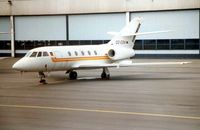 D2-ESV @ LFPB - Sonangol's Falcon 20 in the Maintenance area at Paris Le Bourget in 1985