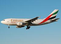 A6-EFA @ LEBL - Emirates on final to RWY 25R. - by Jorge Molina