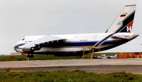 RA-82042 @ EGSS - An124 seen operating for Heavylift at Stansted in 1993