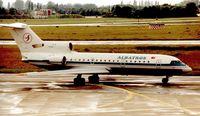 TC-ALY @ EDDL - Albatros Yak-42 at Dusseldorf in 1995