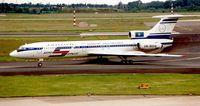 UN-85516 @ EDDL - Air Kazakhstan Tu 154 at Dusseldorf in 1994