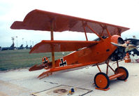 N1839 @ NFW - Fokker Dr-I Replica - this aircraft is now on display at the Cavanaugh Flight Museum