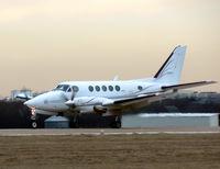 N111YF @ GKY - Landing on a dark winter day...