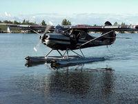 N1346H @ LHD - Aeronca Sedan on floats @ Lake Hood, Anchorage Alaska - by Dan Stroeing