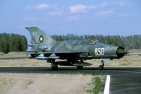 850 @ LBPG - In 2001 this MiG-21 was still active; not long afterwards it was put into storage. - by Joop de Groot