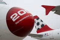 OE-LVK @ VIE - Austrian Arrows Fokker 100 in Euro 2008 cs