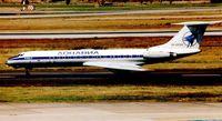RA-65104 @ EDDL - Tu134 arrives at Dusseldorf in 1999