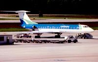 YL-LBF @ LSGG - Lat Charter Tu134 at Geneva in 1996