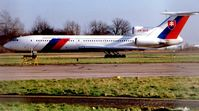 OM-BYR @ EGSS - Slovakian Govt Tu154 at London Stansted in 1999