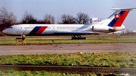 OM-BYR @ EGSS - Slovakian Govt Tu154 at London Stansted in 1999