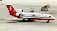 LY-AAP @ EDDF - Lithuanian Yak 42 at Frankfurt in 1997 - by Terry Fletcher