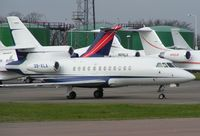 3B-XLA @ EGGW - New Guinee registered bizjet at Luton in 2004 - subsequently re-registered as F-GMOH - by Terry Fletcher