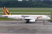 9V-TAC @ WSSS - Tiger Airways A320 taxies in at Singapore Changi - by Terry Fletcher