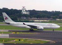 A7-ACH @ WSSS - Qatar A330 lands at Singapore Changi