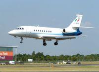 I-SEAE @ EGLF - Italian Falcon 2000 arrives  at 2006 Farnborough Air Show