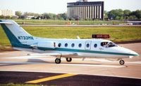 N733MK @ STL - These marks were previously worn by a Beechjet 400 seen here at St.Louis