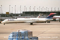 N942DL - A long Niner passing Terminal 2, O'Hare Chicago - by Loe M M Baltussen, NL