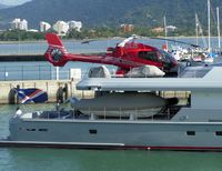 N168JB - This Eurocopter was photographed on the back of a motor Yacht in Cairns Harbour , Queensland, Australia