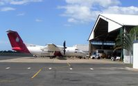 VH-ZZB @ YBCS - Australian Customs Dash 8 emerges from the Maintenance hangar at Cairns in 2005