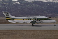 N228YV @ KCOS - Mesa Airlines Beech 1900D