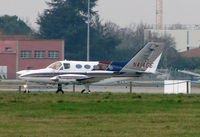 N414CE @ LFBO - Cessna 414 far from home in Toulouse France in January 2008