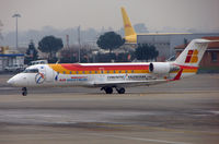 EC-JCM @ LFBO - Air Nostrum  CLRJ taxies in at Toulouse in January 2008