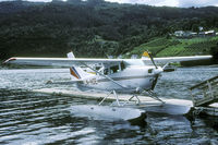 LN-HOE @ ULVIK - We encoutered this Cessna in Ulvik harbour - by Joop de Groot