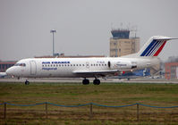 F-GLIS @ LFBO - Fokker 70 prepares to depart Toulouse