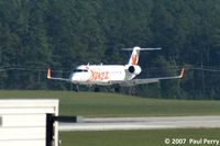 C-FFJA @ RDU - Gingerly letting down to RWY 5 - by Paul Perry