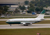 N787WH @ FLL - B737 in basic Miami Dolphins colours but without titles