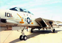 162708 - At the former Dallas Naval Air Station - F-14A AF 101 of V-201 Hunters