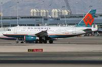 N838AW @ KLAS - US Airways / 2005 Airbus A319-132