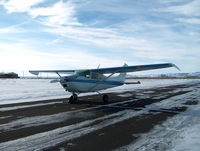 N8744T @ BNO - Winter Day on the taxi way - by Bob Wright