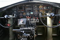 N93012 @ ISM - Cockpit of B-17
