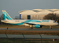 EC-KMI @ LFBO - Line up runway 14R for delivery flight - by Shunn311