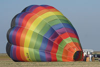 OE-RZF - Hot air baloon during startup.