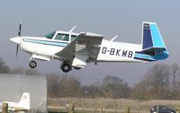 G-BKMB @ EGSF - Mooney M20 arriving at Conington - by Simon Palmer
