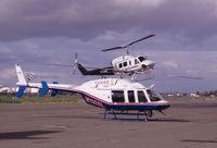 N110AL @ CCR - Two PJ Helicopters arriving - by Bill Larkins