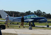 N444BR @ PIE - Cessna 310 in the grounds of the National Aviation Academy at St.Petersburg - Clearwater Airport