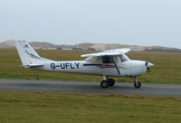 G-UFLY @ EGNH - 40 year old Cessna taxies out at Blackpool