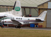 N59GG @ EGNH - Beech C90A at Blackpool in Feb 2008