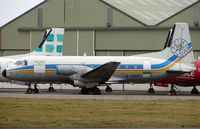 G-SOEI @ EGNH - This now stored HS748 spent many years flying for Mount Cook Airline in New Zealand