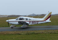 G-BGVZ @ EGNH - Piper Pa-28 Taxies out at Blackpool in Feb 2008